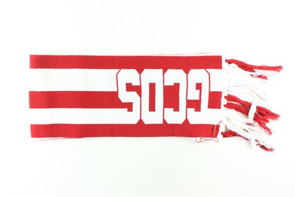 sciarpa bicolore con stampa logo GCDS | Sciarpe | 020404ROSSO