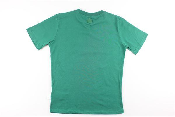 t-shirt tinta unita con stampa GCDS | T-shirts | 020413VERDE