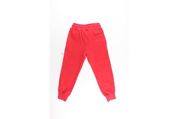 pantalone tuta tinta unita con stampa GCDS | Pantaloni | 0204177ROSSO