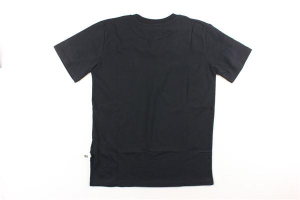t-shirt tinta unita con stampa GCDS | T-shirts | 020438NERO