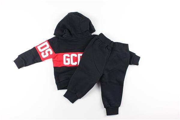 completo felpa con zip e cappuccio + pantalone tuta GCDS | Completi | 0239399NERO