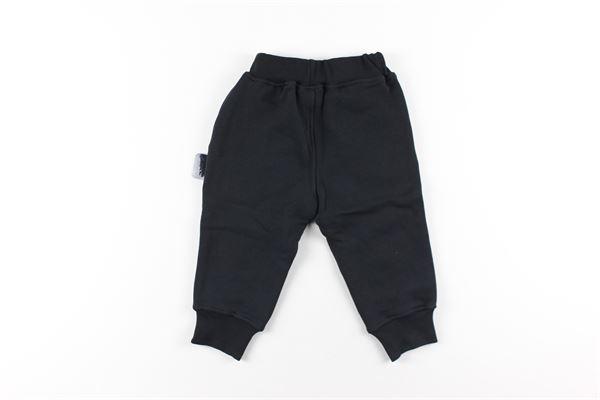 felpa con zip e cappuccio stampa logo pantalone tinta unita GCDS | Completi | 025796NERO