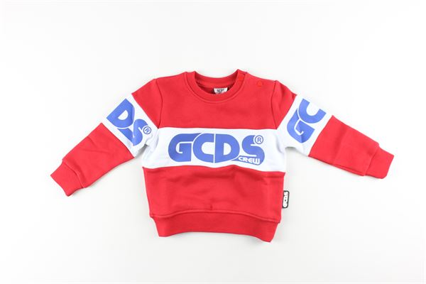felpa tinta unita con stampa logo GCDS | Felpe | 025798ROSSO