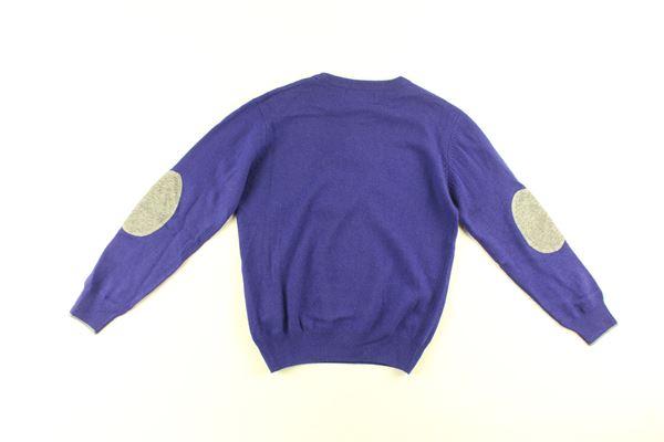 maglia tinta unita con profili in contrasto HARMONT & BLAINE | Maglie | 318JH001BLU