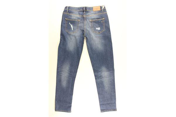 jeans tinta unita con strappi HARMONT & BLAINE | Jeans | 319XW002BLU