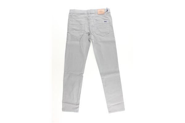 pantalone tinta unita con girovita regolabile HARMONT & BLAINE | Pantaloni | 34SJW018BISGRIGIO