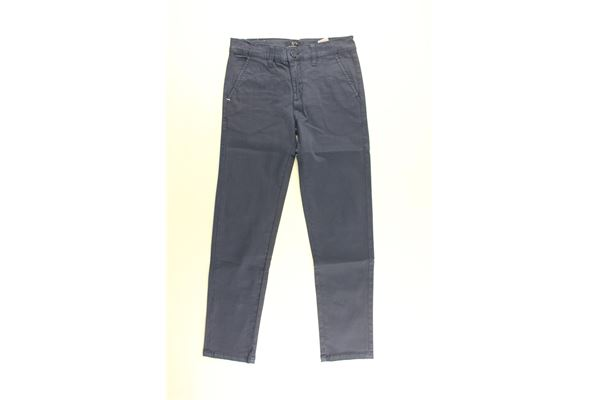 pantalone tinta unita con girovita regolabile HARMONT & BLAINE | Pantaloni | 34SJW019BISBLU CHIARO