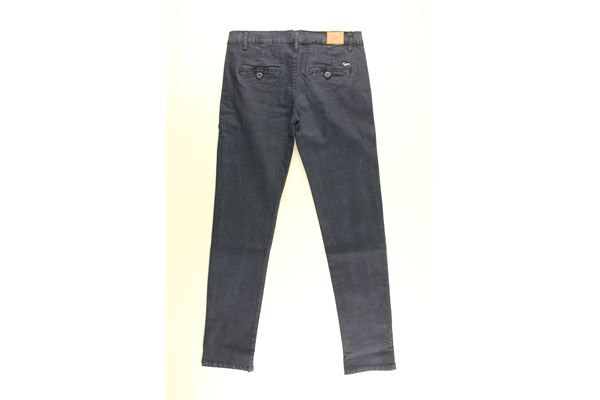 pantalone tinta unita con girovita regolabile HARMONT & BLAINE | Pantaloni | 34SJW019BISBLU