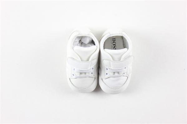 scarpa tinta unita con strappo e lacci HUGO BOSS | Scarpe | 10BBIANCO