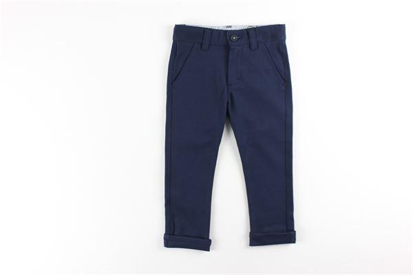 pantalone tinta unita 5 tasche con girovita regolabile HUGO BOSS | Pantaloni | J04381BLU