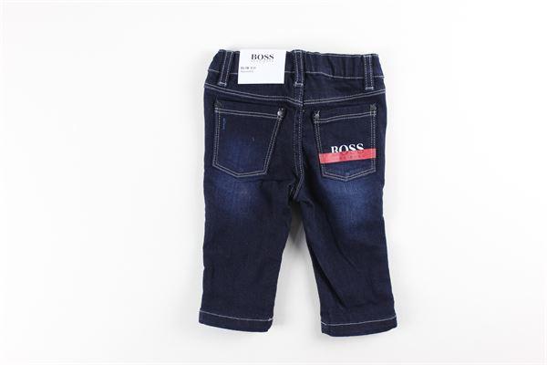 jeans tinta unita 5  tasche HUGO BOSS | Jeans | J04383BLU