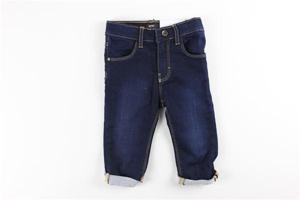 jeans tinta unita 5  tasche HUGO BOSS | Jeans | J04384BLU