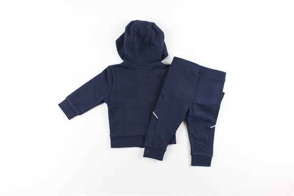 completo felpa con zip + pantalone tinta unita HUGO BOSS | Completi | J04J633BLU