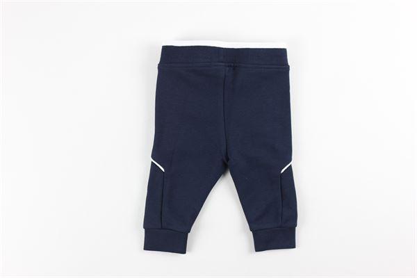pantalone tinta unita con stampa HUGO BOSS | Pantaloni | J04J63BLU