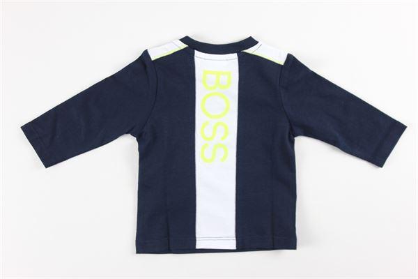 shirt tinta unita con stampa HUGO BOSS | Shirts | J05825BLU