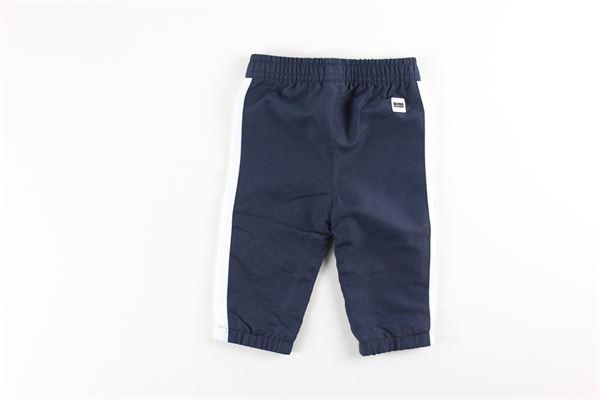 felpa tinta unita con stampa e zip pantalone con elastico tinta unita HUGO BOSS | Completi | J08045BLU