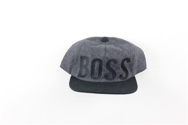 berretto tinta unita con stampa HUGO BOSS | Cappelli | J21225GRIGIO