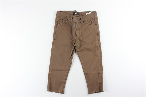 pantalone 5 tasche tinta unita girovita regolabile I'M BRIAN   Pantaloni   CJL1301BEIGE