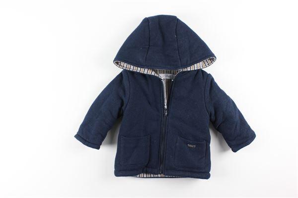 cappotto tinta unita con zip e cappuccio I DELFI | Giubbini | 2232BLU