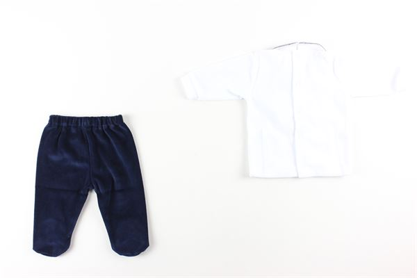 maglia tinta unita con stampa rombi e pantalone tinta unita completo in ciniglia I DELFI | Completi | 2241BIANCO