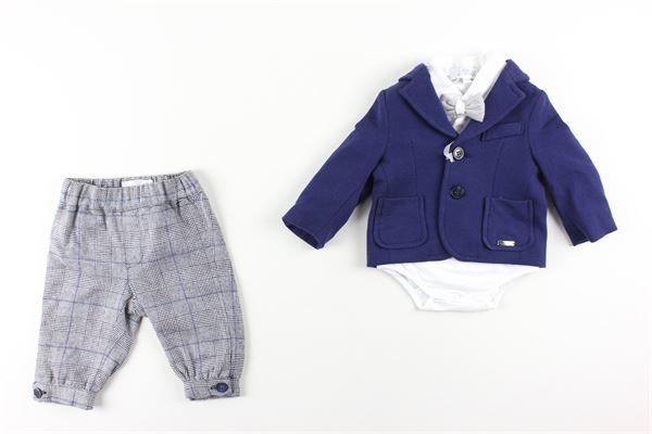 giacca tinta unita body tinta unita pantalone stampa fantasia I DELFI | Completi | 2249BLU