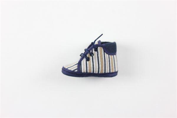 scarpa tinta unita con lacci fantasia a righe I DELFI | Scarpe | 2274BLU