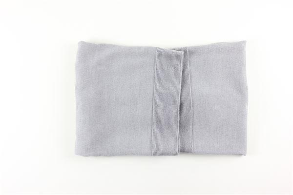 coperta tinta unita con profili in contrasto I DELFI | Coperte | 2412GRIGIO