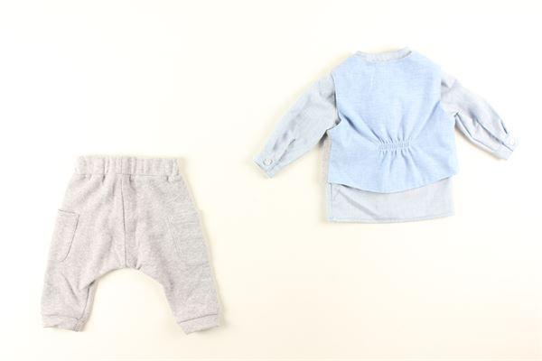 gilet tinta unita camicia fantasia a righe e pantalone tinta unita I DELFI | Completi | 807GRIGIO