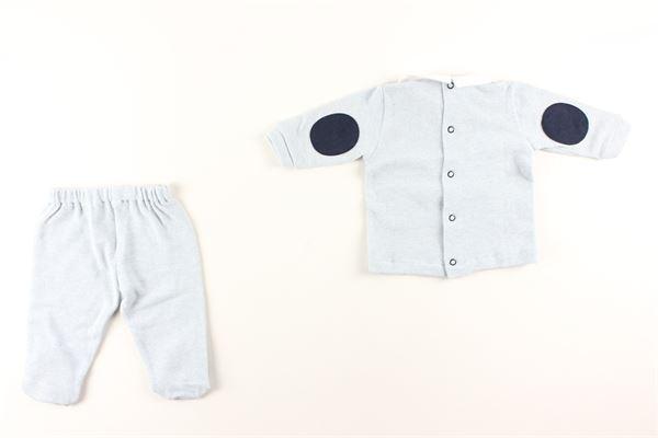 maglie fantasia a righe pantalone tinta unita I DELFI | Completi | 821CELESTE