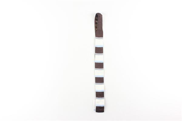 cravatta in cotone fantasia a righe I PINCO PALLINO | Cravatte | 8111014MAMARRONE