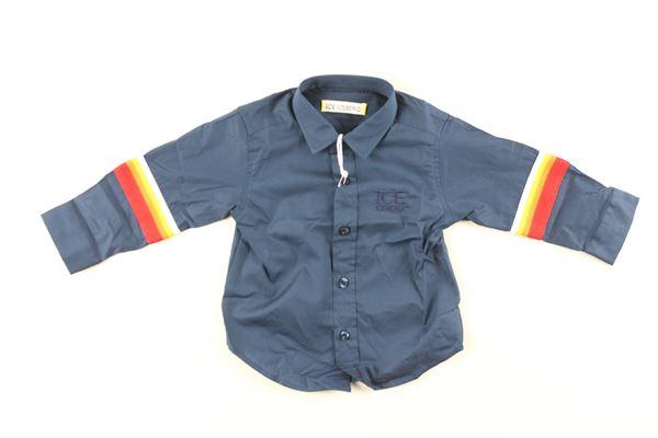 camicia manica lunga tinta unita con stampe ICEBERG   Camicie   CMICE9303BBLU