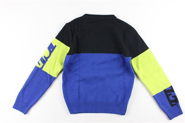 maglia girocollo bicolore stampa logo ICEBERG   Maglie   MGICE0306JBLU ELETTRICO