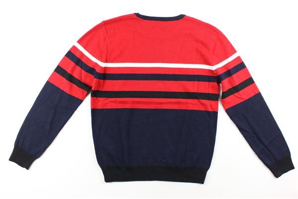 maglia bicolore con stampa ICEBERG   Maglie   MGICE9301JROSSO