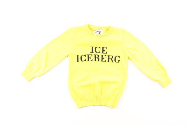 maglia tinta unita con stampa ICEBERG   Maglie   MGICEF9304BGIALLO