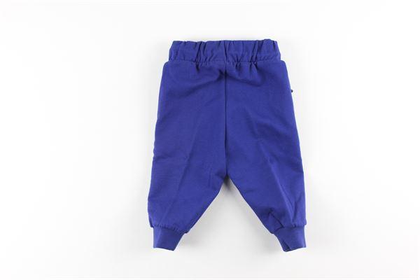 pantalone in felpa tinta unita con profilimin contrasto ICEBERG   Pantaloni   PFICE0315BBLU