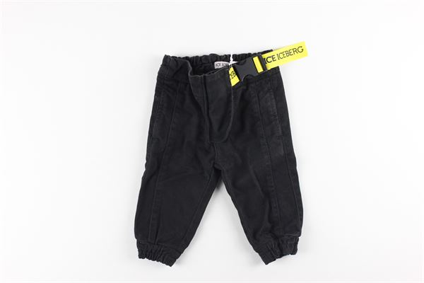 pantalone tinta unita elasticoin vita ICEBERG   Pantaloni   PTICE0304BNERO