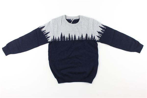 maglia bicolore IL GUFO | Maglie | A20MA331M220BLU