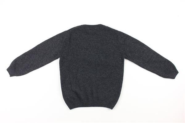 maglia tinta unita con stampa J.O. MILANO | Maglie | 063E1GRIGIO