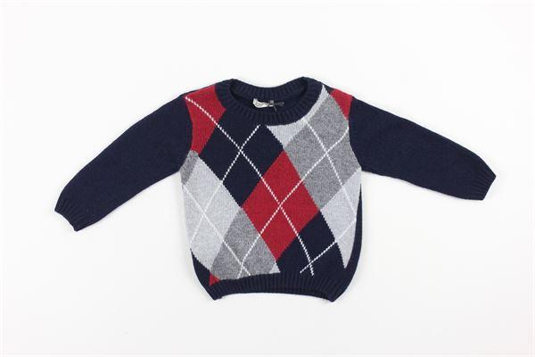 maglia tinta unita con stampa multicolor J.O. MILANO | Maglie | 063E2BLU