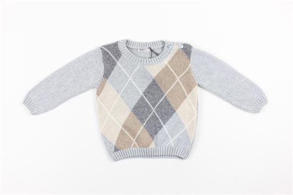 maglia tinta unita con stampa multicolor J.O. MILANO | Maglie | 063E2GRIGIO