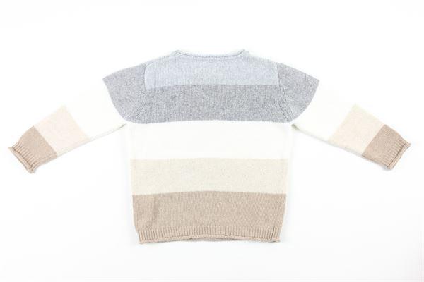 maglia tricolore manica lunga J.O. MILANO | Maglie | 063G1BIANCO