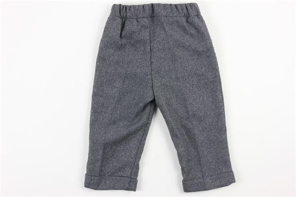pantalone tinta unita elastico in vita J.O. MILANO | Pantaloni | 064Z2GRIGIO