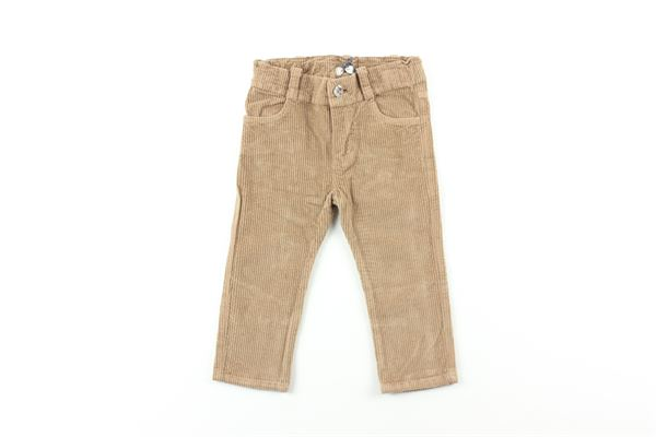 pantalone a costine in velluto tinta unita J.O. MILANO | Pantaloni | 064Z66BEIGE