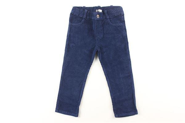 pantalone a costine in velluto tinta unita J.O. MILANO | Pantaloni | 064Z66BLU
