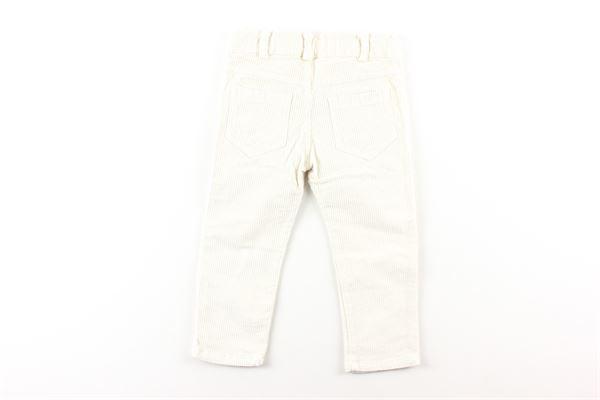 pantalone a costine in velluto tinta unita J.O. MILANO | Pantaloni | 064Z66PANNA