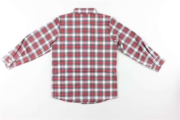 camicia manica lunga fantasia quadri J.O. MILANO | Camicie | 066F1XROSSO