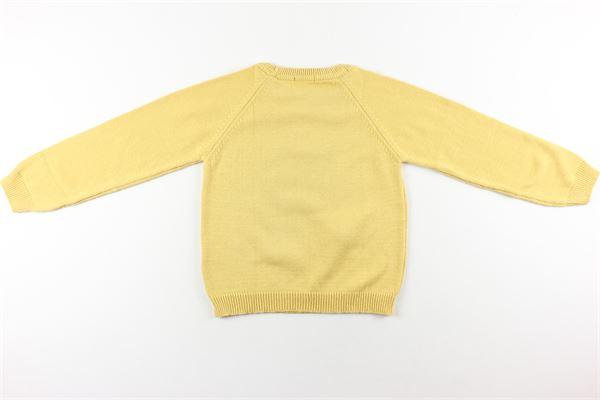 maglia tinta unita con stampa J.O. MILANO | Maglie | 4&J462GIALLO
