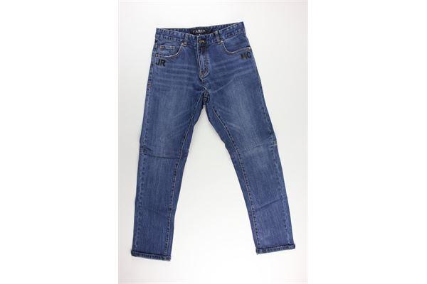 jeans tinta unita con stampa JOHN RICHMOND   Jeans   RBA19249JEFEJAZZURRO