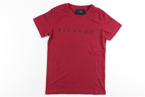 t-shirt tinta unita con stampa JOHN RICHMOND | T-shirts | RBA20001TSBORDEAUX