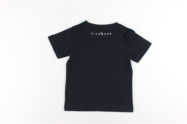 t-shirt tinta unita con stampa JOHN RICHMOND | T-shirts | RBA20001TSNERO